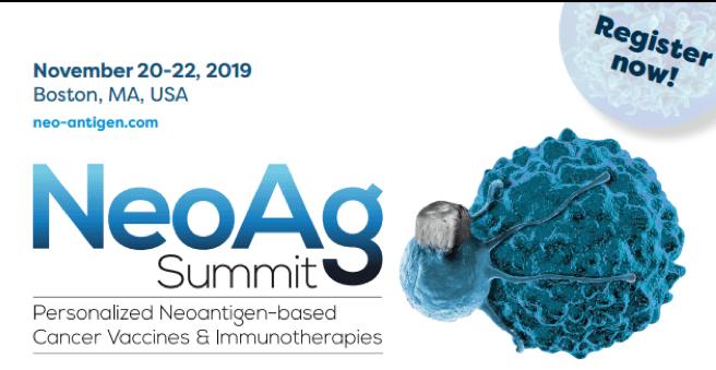 Neoantigen Summit, 20-22 Nov in Boston